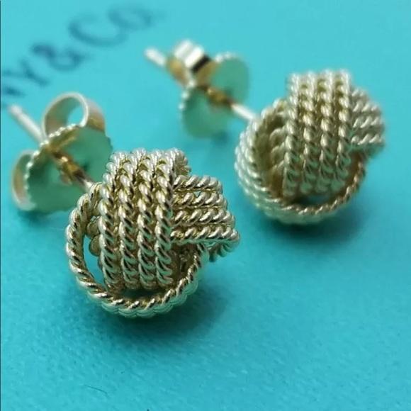 b26f8283f Tiffany & Co. Jewelry | Nib Tiffanyco 18k Gold Twist Knot Stud ...